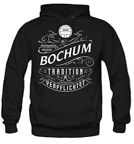 uglyshirt87 Mein Leben Bochum Kapuzenpullover | Freizeit | Hobby | Sport | Sprüche | Fussball | Stadt | Männer | Herren | Fan | M1 Front (XL)