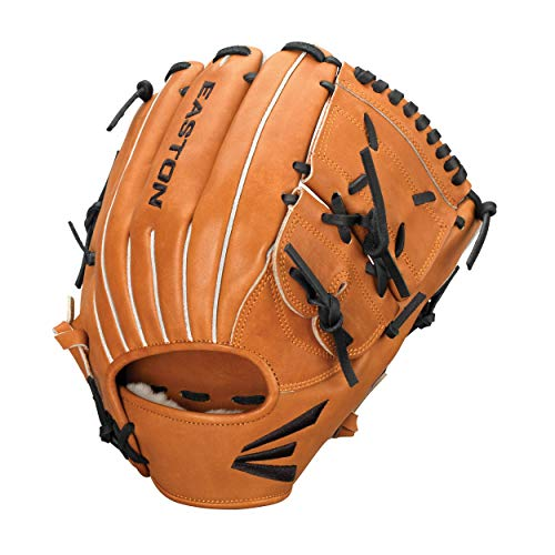 Easton Professional Collection Baseball-Handschuh, rechte Hand, 30,5 cm, Braun, solides Netz
