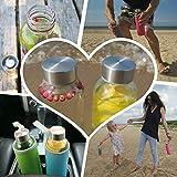 Wenburg Glasflaschen 500ml, 6 St. im Set + Bürste, Robuste Trinkflaschen aus Glas für Säfte, Tee, Wasser, Smoothies. Geeignet für Erwachsene, Kinder. Sport-Flasche. BPA-frei (Mit Schutzhüllen, 0,5 l) - 5