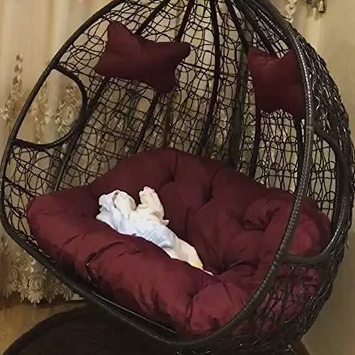 GWW Balançoire épaisse Coussin D'assise,Oeuf Suspendu De Couleur Unie Coussins De Chaise sans Le Pied Bascule D'Impression Détachable Coussin De Chaise,Double-f 140x110cm(55x43inch)