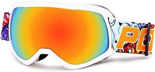 Lunettes De Ski Lunettes De Sport Lunettes Anti-Brouillard Double Couche pour Garçons Et Filles Lunettes Sphériques De Grand Champ - JBP49