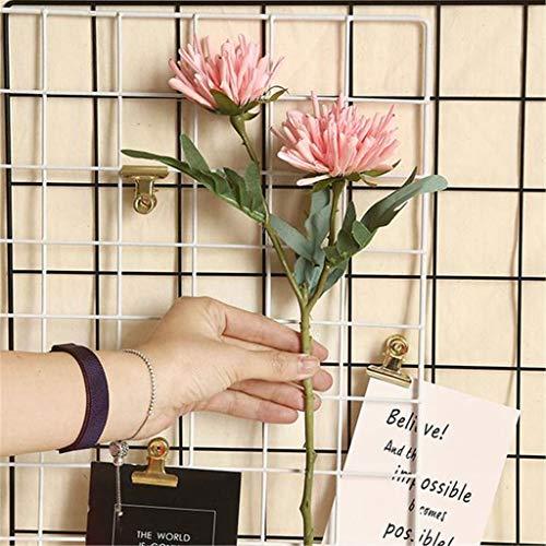 Hunpta@ Künstliche Blumen 2 Köpfe Chrysantheme Kunstblumen Blumenarrangement für Haus Büro Balkon Garten Hochzeit Party Valentinstag Dekoration