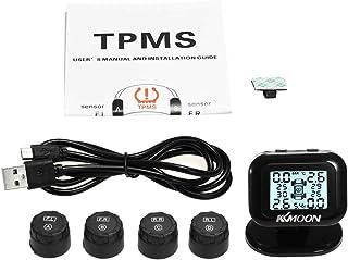 Sangmei TPMS Sistema de monitoramento da pressão dos pneus Tela LCD sem fio em tempo real 4 Sensores externos Função de al...