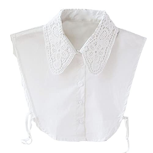 2bf7b9d6 Greatlizard Vintage Women Ladies Fake Lace Shirt Blouse Peter Pan  Detachable Collar Tie