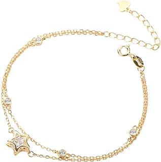 cha?ne r/églable pour femmes et filles LINSUNG Bracelet de cheville