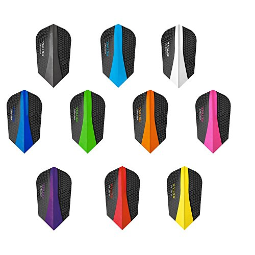 PerfectDarts Harrows Retina Dart-Flights, gemischte Farben, schmal, 10 Sets