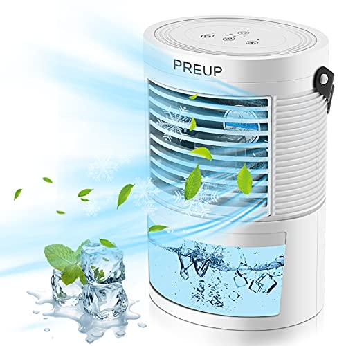 Portable Air Conditioner PREUP portable Mini Air Conditioner, Purifier,Humidifier,7-Color LED Light...