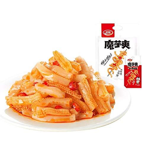 Wei Long Konjac Snacks Chinese Spicy Snack 卫龙魔芋爽 香辣 Moyushuang Wei Long Konjac latiao Chinese Snacks 卫龙 魔芋爽 (香辣, 10pack-180g)