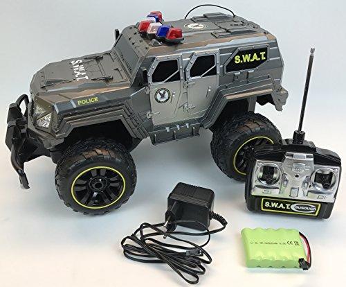 RC Monstertruck kaufen Monstertruck Bild 1: BUSDUGA - 2486 RC Monstertruck Polizei SWAT, 1:12 , RTR, inkl. 13 LED Lichter , Signallichter mit 4 Intervallen*