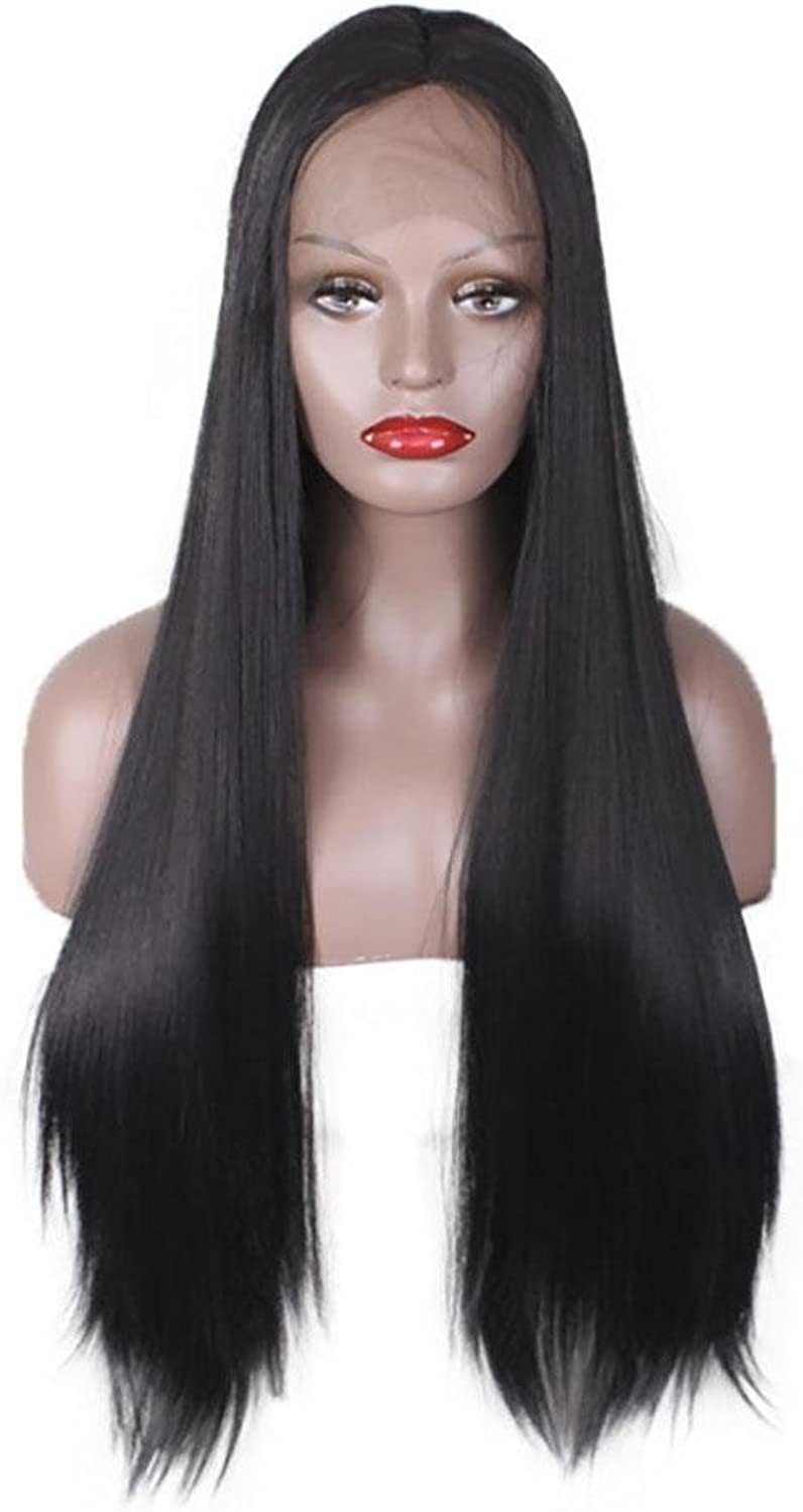 JMQ Straight Wigs Hair Front Lace Long Straight Wigs Too Large Hook Area Can Be Dyed, Has Been Worn For A Variety Of Occasions