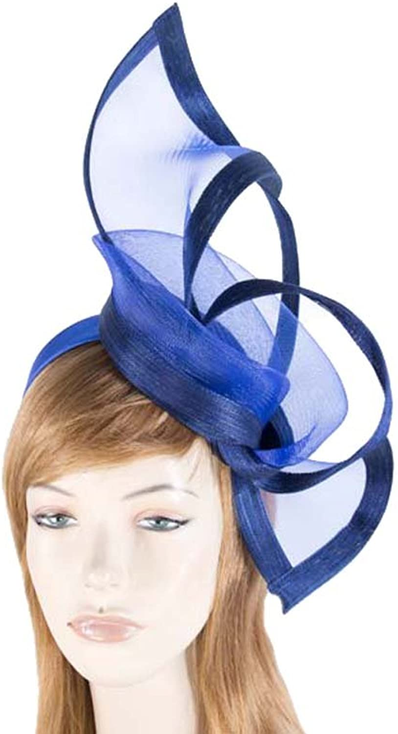 Royal bluee top quality designers fascinator. Made in Australia