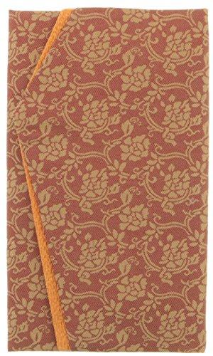 むす美 正絹名物裂 金封ふくさ (化粧箱入) 牡丹唐草 (エンジ) 50138-002