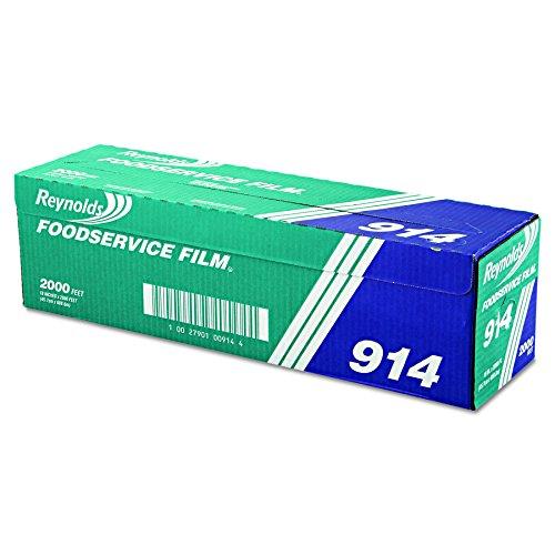 "Reynolds Wrap 914 PVC Film Roll w/Cutter Box, 18"" x 2000ft, Clear"
