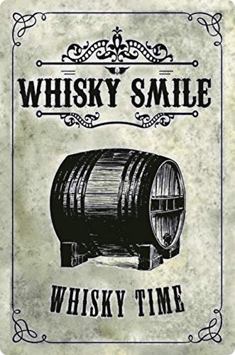 Generisch metalen bord 20x30cm whisky Smile whisky Time vat metalen bord