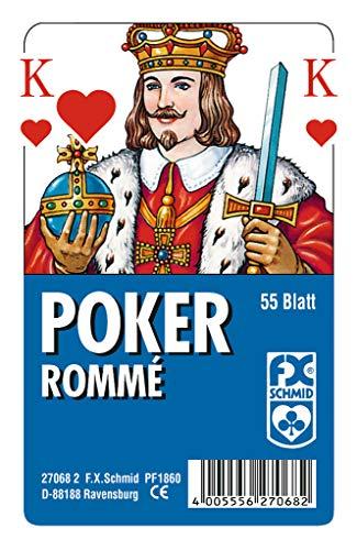 Ravensburger 27068 - Poker, Französisches Bild - 55 Blatt, glasklaes Etui