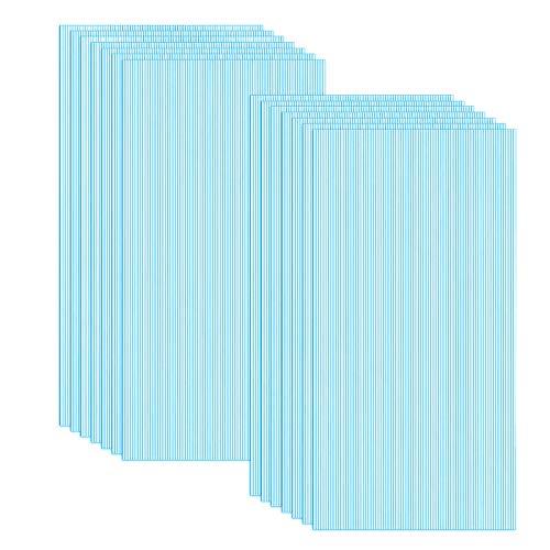 Froadp 14 Stück UV-beständigem Polycarbonat Hohlkammerstegplatten 700g/㎡ Doppelstegplatte Gewellte Gewächshausplatte für Garten Treibhaus(605x1210x4mm, Blau)