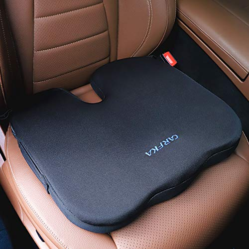 Car Seat Cushion Carfka Antislip Oversize Memory Foam Cushion for Office Chair,Sciatica Coccyx Butt Tailbone Back Pain Relief Seat Cushion Suitable for Car,Truck,Wheelchair,Office Chair