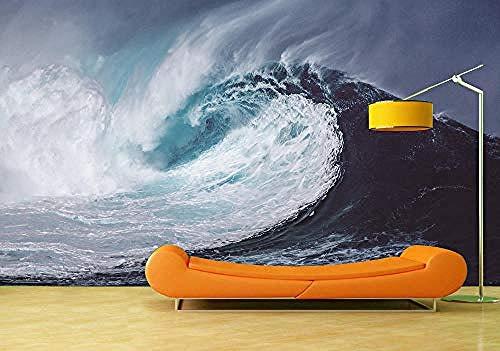 XHXI 3D foto Mural adesivo de Parede pôr do sol sobre o mar Non-Woven Premium Art Print Wall Mural Decoration Poster Pho 3D Wallpaper Paste Living Room The Wall for Bedroom Mural border-350cm×256cm