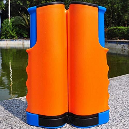 Haomingxing, Rete da Ping Pong Portatile Retrattile, Si Attacca a Qualsiasi Superficie del Tavolo per Tutte Le Persone, Arancione