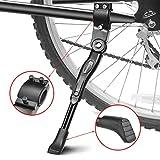 EKKONG Pata de Cabra de Bicicletas, Aluminio Aleación Ajustable Bicicleta Kickstands Bicicleta Caballete Lateral con pie de Goma Antideslizante para Bicicletas 24'- 29'