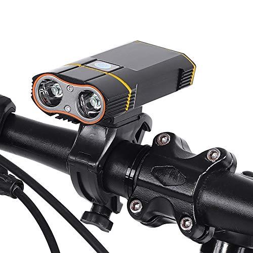Topiky Led-fietslamp, outdoor, waterdicht, 2400lm, instelbare modus, 360 graden draaibaar, breedte verlichting, fietsen, stuur, fiets, koplamp