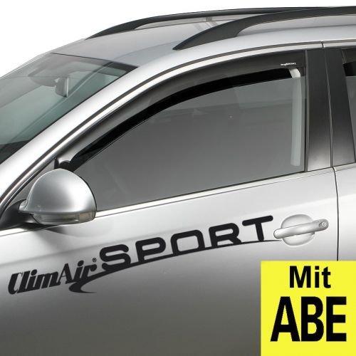 ClimAir CLS0033766D Windabweiser Schwarz passend für Volkswagen Golf VII 5 türer & Variant 2012