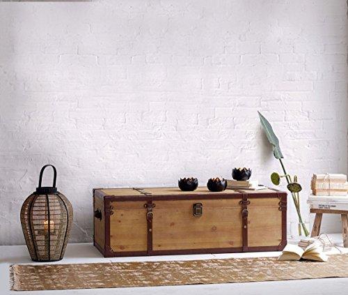 Pureday miaVILLA Couchtisch Truhe - Extra viel Stauraum - Holztruhe in Vintage-Optik - FSC Holz - 110 x 50 x 35 cm - 3