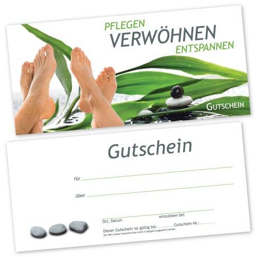 50 Fußpflege – Gutscheinkarten FUß RELAX Gutscheine Geschenkgutscheine