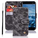 Jhxtech Nokia 6.1 Case, Nokia 6 2018 Leather Case, Premium