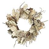 Mills Floral White Birch Leaf Wreath - 20 inch