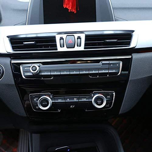AUTO Pro para BMW Serie 1 2 3 4 F30 F34 F46 GT X1 F48 2013-2017 perillas de aire acondicionado con anillo de botón de audio, accesorio de aleación de aluminio, color plateado