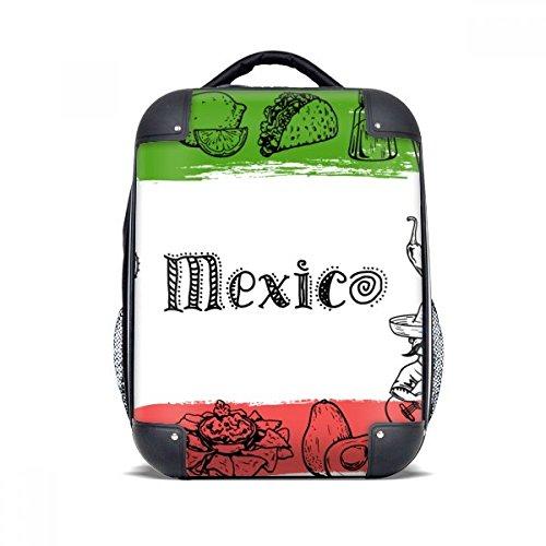 DIYthinker Mexiko Küche Cactus Sketch Hard Case Schulter Kind-Rucksack-Geschenk 15