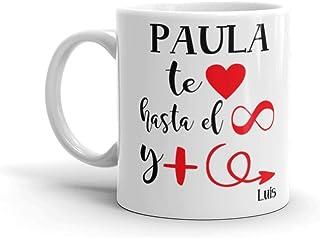Kembilove Taza Personalizada para Pareja - Regalo original San Valentín y Enamorados - Tazas de café para novios y novias ...