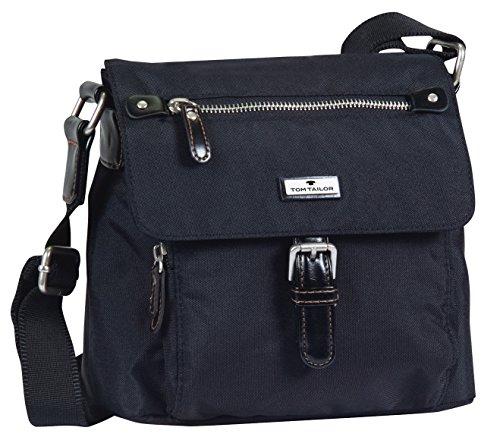 TOM TAILOR Umhängetasche Damen RINA Umhängetaschen, Schwarz (schwarz 60), 22x20x10 cm, TOM TAILOR Handtaschen, Taschen für Damen
