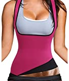 Ursexyly Cute Fat Burner Vest Slimming Shirt Neoprene Sauna Suit Waist Trainer Tank Top for Women (L, US 12-14, Pink Slimming Vest)