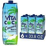 Vita Coco - Reines Kokoswasser (1 l x 6) - Natürlich feuchtigkeitsspendend - Vollgepackt mit Elektrolyten - Glutenfrei - Voll mit Vitamin C und Kalium