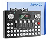 【Live Sound Card with Sound Effects】 The mini sound card can be used for DJ, music studio recording, condenser microphone, karaoke online, podcast, mic, singing, k song, live stream, TikTok and YouTube streaming, guitar, Facebook, anchor, voice mixin...