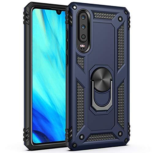AFARER Hülle Kompatibel Mit Huawei P30 Militärische Handyhülle Blau