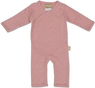 Babyushka Organic Australian Long Sleeve Kimono Romper, Mauve, 000
