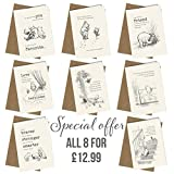 Winnie the Pooh x 8 Cards / Birthday Cards / Friendship Cards / Valentine Cards / Anniversary Cards including Envelopes