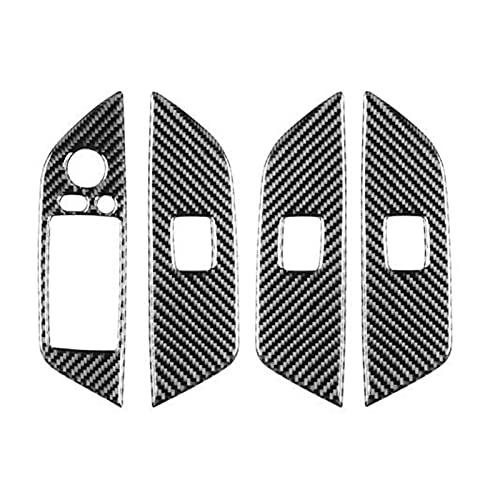 HYZZ Molduras Interiores Modificaciones De La Etiqueta del Borde del Controlador del Interruptor De Elevación De La Ventana para El Volante A La Derecha para BM&W X1 E84
