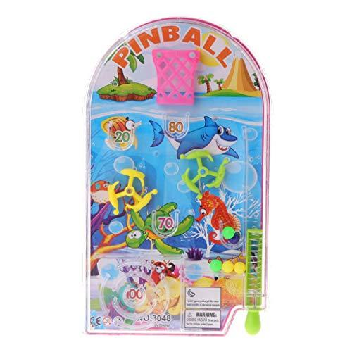 PHILSP Colgante Novedad Bolsillo Pinball Juguete Divertido Juegos De Fiesta Máquina Mini Puzzle Plaything Regalo 1 Pieza Color Al Azar