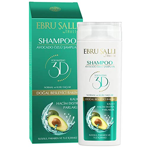 Ebru ŞALLI by THALIA - Avocadoöl Shampoo 300 ml | versorgt das Haar mit Feuchtigkeit | stärkt die Haarwurzeln | sorgt für geschmeidiges und langanhaltend gepflegtes Haar