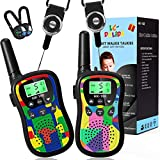 Toys for 3-12 Year Old Boys Girls , Walkie Talkies for Kids 5KM Long Range with Automatic Squelch Function Flashlight for Outdoor Camping Hiking- 2 Pack