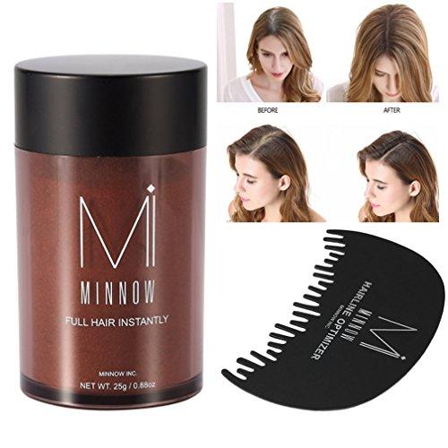 ZJchao Fibres de renforcement des cheveux, poudre pour cheveux, 9 couleurs pour femmes et hommes, dissimule la calvitie, épaissit les cheveux, fibres de régénération des cheveux en poudre, 25 g