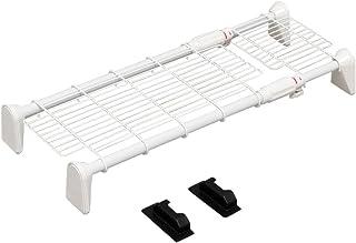 アイリスオーヤマ つっぱり棚 突っ張り棚 つっぱり棒 棚 伸縮棚 突っ張り 超強力メッシュ 幅55~75cm ホワイト H-J-M55
