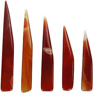 TMISHION 5 unids Cuchillo de Ágata, Herramienta de Fabricación de Joyas de Pulidoras de Ágata Artesanía Manual Joyería Joyas de Arcilla Artesanal Herramienta de Pulido para Protección