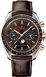 Omega Speedmaster Moonwatch para hombre con esfera y correa marrón 304.23.44.52.13.001