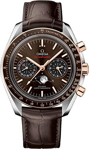 Omega Speedmaster Moonwatch para hombre con esfera marrón y correa 304.23.44.52.13.001