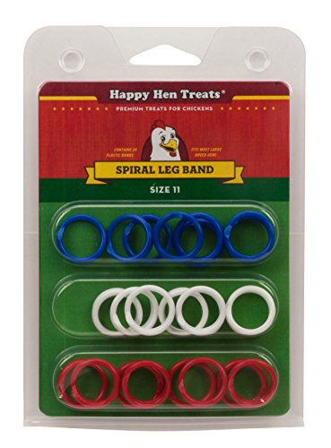 Happy Hen Treats Spiral Leg Bands for Pets Toy No Tools Required Size 11 24/Bag